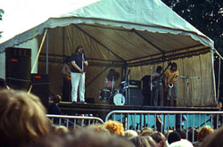 The Liverpool Scene onstage at the Bath festval 1969