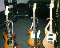 Dave Gilmour's and Andy's guitars