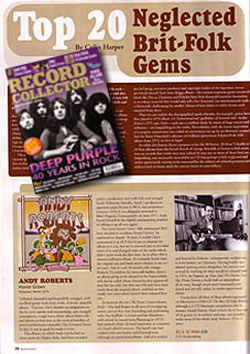 Record Collector article on Andy Roberts, HOME GROWN