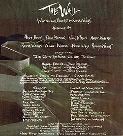 The Wall credits Andy Roberts